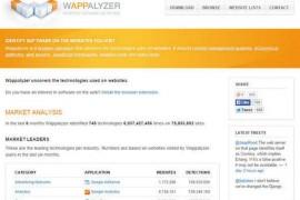 Wappalyzer:在线网站技术分析工具:wappalyzer.com