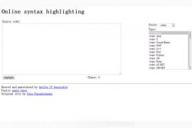 ToHtml:在线代码编辑高亮显示工具:tohtml.com