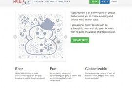 WordArt 在线文字云设计工具:wordart.com