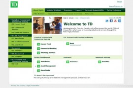 TD:加拿大多伦多道明银行官网:www.td.com