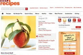 MyRecipes:我的私人订制食谱:www.myrecipes.com