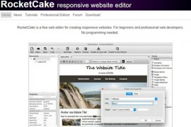 RocketCake|网页所见即所得编辑器:www.ambiera.com