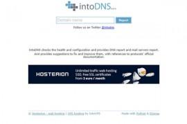 intoDNS|在线DNS状态检测工具:intodns.com