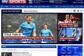 SkySports:英国天空体育直播电视台官网:www.skysports.com