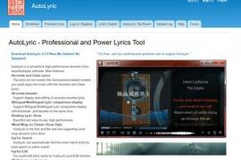 Autolyric:可道歌词在线获取工具:www.autolyric.com