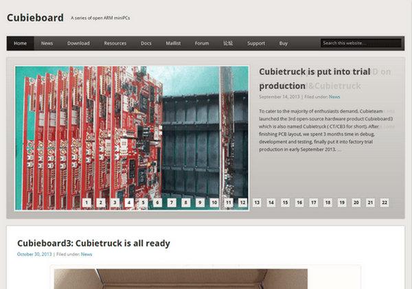 CubieBoard:开源MiNiPC硬件开发平台:cubieboard.org